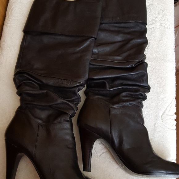 b7f4440056d Nine West Womens Black Slouch Boots